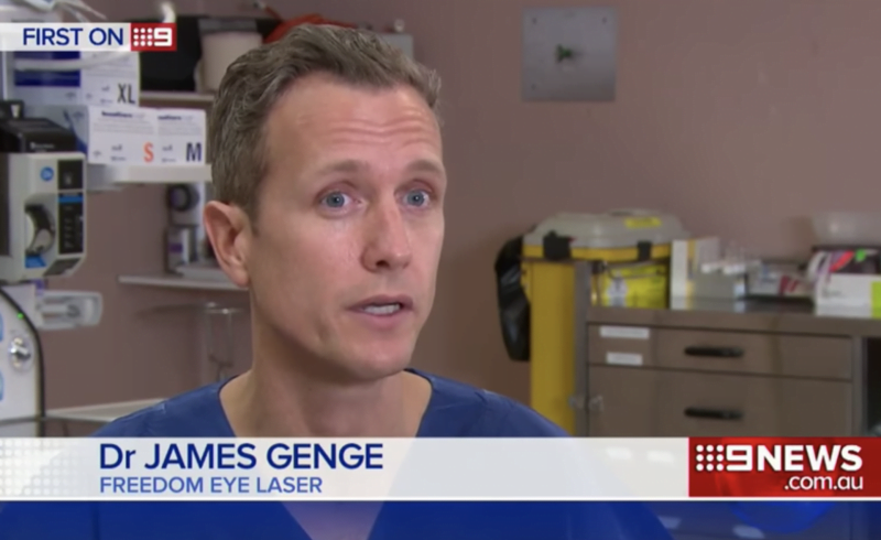 Channel 9 interviews Dr Genge on lens implants